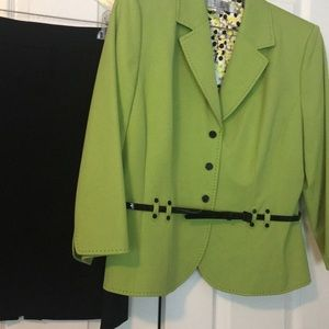 Green and Black suit by Tahiti, sz 16